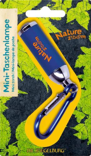 Die Spiegelburg - Nature Zoom Mini-Taschenlampe, ca. 9 cm, inklusive Batterien, aus Aluminium