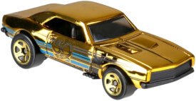 Mattel Hot Wheels FRN33  50th Anniversary Black & Gold Themed