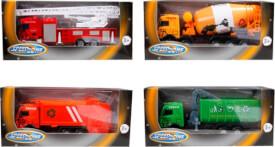 Speed Zone D/C Nutzfahrzeuge, 1:87, 4-fach sortiert, ca. 16,7x7x4,5 cm, ab 3 Jahren (nicht frei wählbar)