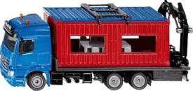 SIKU 3556 SUPER - LKW mit Baucontainer, 1:50, ab 3 Jahre