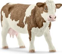 Schleich Farm World Bauernhoftiere - 13801 Fleckvieh-Kuh, ab 3 Jahre