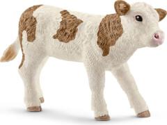 Schleich Farm World Bauernhoftiere - 13802 Fleckvieh-Kalb, ab 3 Jahre