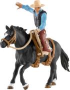 Schleich Farm World Western/ Rodeo - 41416 Saddle Bronc Riding mit Cowboy, ab 3 Jahre