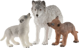 Schleich 42472 Wolfsmutter mit Welpen