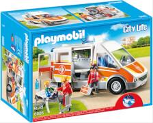 Playmobil 6685 Krankenwagen mit Licht und Sound, ca. 27x13x15, ab 4 Jahren