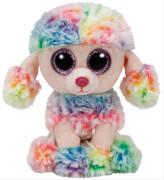 TY Beanie Boo's - Pudel Rainbow, Plüsch, ca. 11x18x10 cm