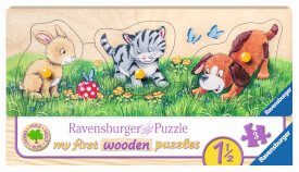Ravensburger 032037 Puzzle Niedliche Tierkinder 3 Teile