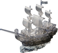 3D Crystal Puzzle - Piratenschiff 101 Teile
