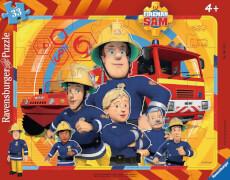 Ravensburger 61143 Rahmenpuzzle Sam, der Feuerwehrmann, 33 Teile