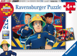 Ravensburger 90426 Puzzle Feuerwehrmann Sam hilft dir in der Not, 2x24 Teile