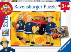 Ravensburger 75843 Feuerwehrmann Sam im Einsatz, 2x12 Teile