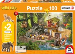 Schmidt Puzzle 56238 Schleich Forschungsstation Croco, 100 Teile, ab 6 Jahre