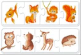 Ravensburger 030064 Puzzle: Mein 1. Farbpuzzle Tiere 6x4 Teile