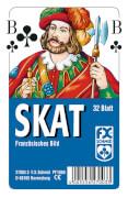 Ravensburger 270033 Klassisches Skat, Französisches Bild, 32 Karten Klarsicht, Kartenspiel