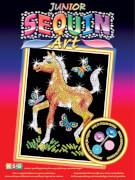 Sequin Art Junior - Paillettenbild - Pferdefohlen