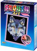 Sequin Art - Paillettenbild - Wolf
