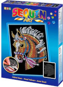 Sequin Art - Paillettenbild - Pferd