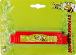 Boogie Bee Mundharmonika, 12 Noten, rot,  Länge ca. 13,5 cm, Kinderinstrument, ab 3 Jahren