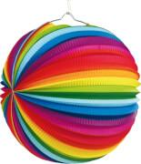 Lampion Regenbogen 25 cm schwer entflammbar