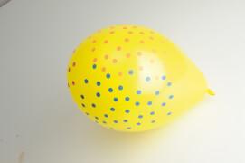 8 Latexballons Konfetti 4-farbig Globaldruck 25,4 cm/10''
